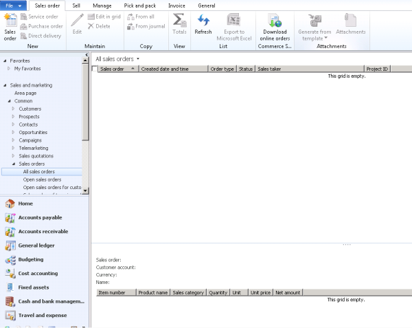 missing sales orders in microsoft dynamics ax 2012 aka