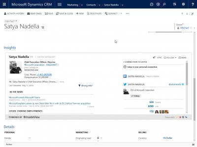 Microsoft Dynamics CRM Insights