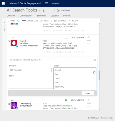Microsoft Dynamics CRM Social Engagement Search