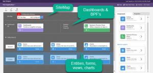 Microsoft Dynamics 365 App Designer-New App Screen