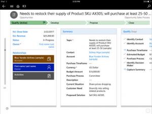Microsoft Dynamics 365 Mobile Dashboard
