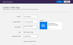 Microsoft Dynamics 365 App Designer-Create New App