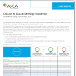 AKA Enterprise Solutions' Ground to Cloud - Strategy Roadmap