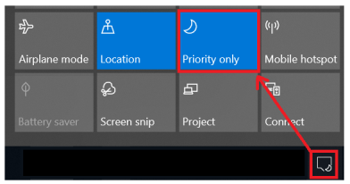 Focus Mode for turning off notifications during virtual training