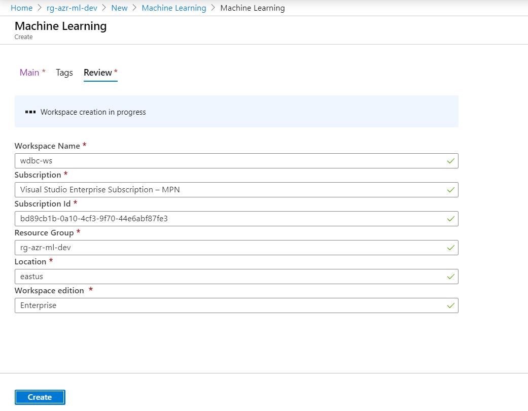Azure Automated Machine Learning-Create Machine Learning Application 2